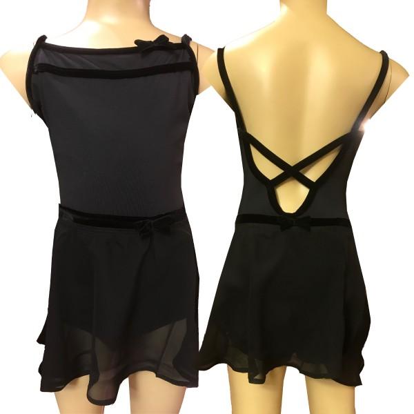 Mädchen Ballettanzug AMELIE mit Samtdetail