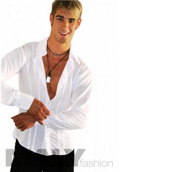 Herren Hemd Jersey Crepe mit Biesen