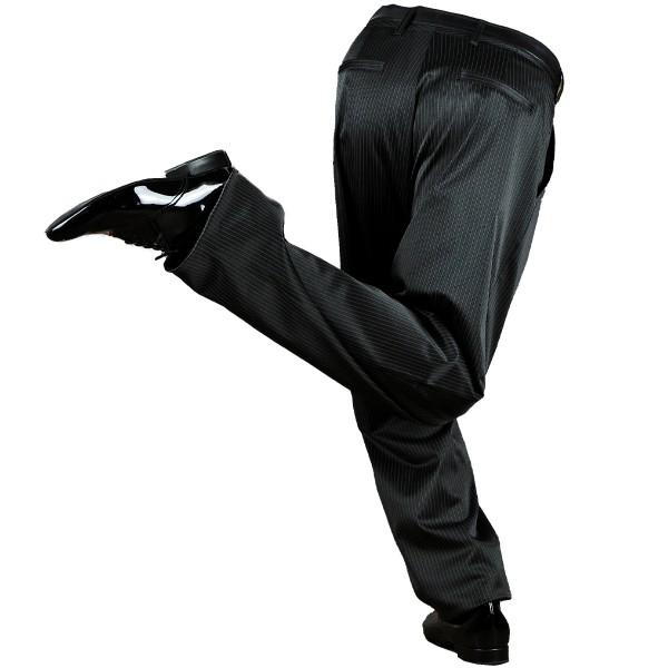 Tango Trousers COPELLO Pinstripe Black