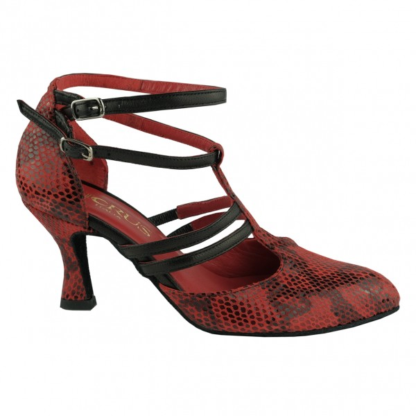 Ladies Dance Shoe BL517 ANACONDA RED