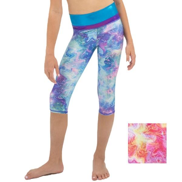Girls Gymnastik Capri Leggings