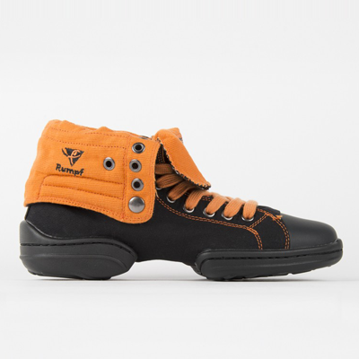 Dance Sneaker TWO STAR Schwarz/Orange