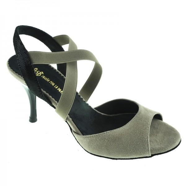 Tango shoe LA TANA TAUPE - wider plattform
