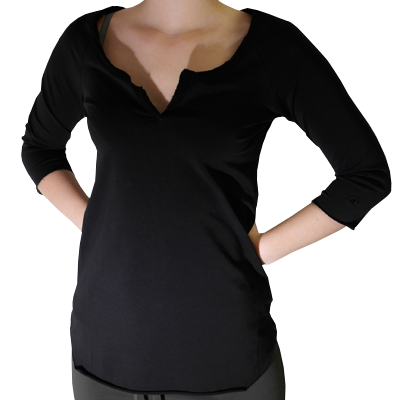 3/4 sleeve shirt with mesh back