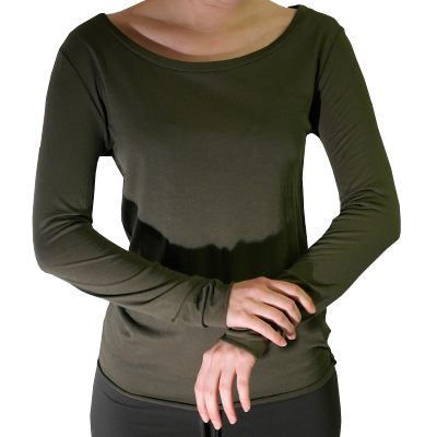 Thin softshirt with long sleeve