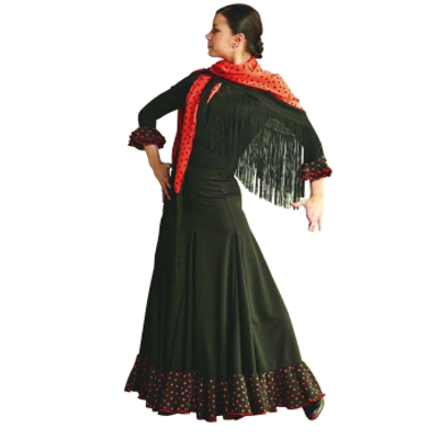 Flamenco Rock 7124 Schwarz-Orange
