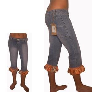 Salsa Jeans mit Volant 3/4 Bein