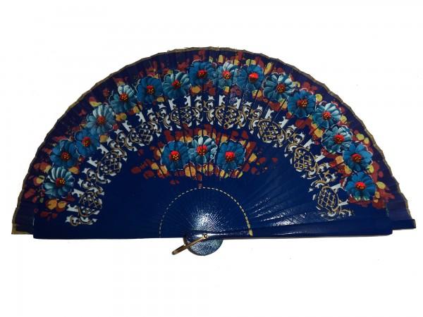 Fan DOBLE CARA FLORES - 23 cm
