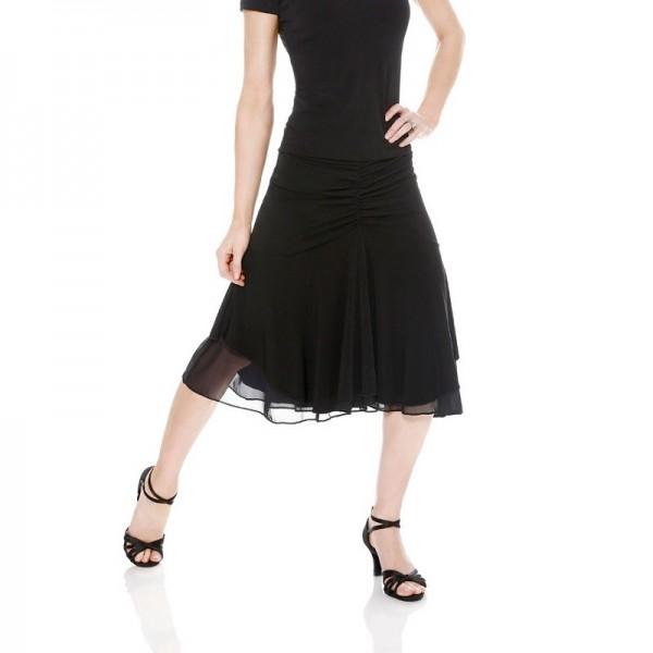 Skirt with mesh underlay E11119