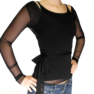 Mesh Cross-Over Wrap Top GLOW