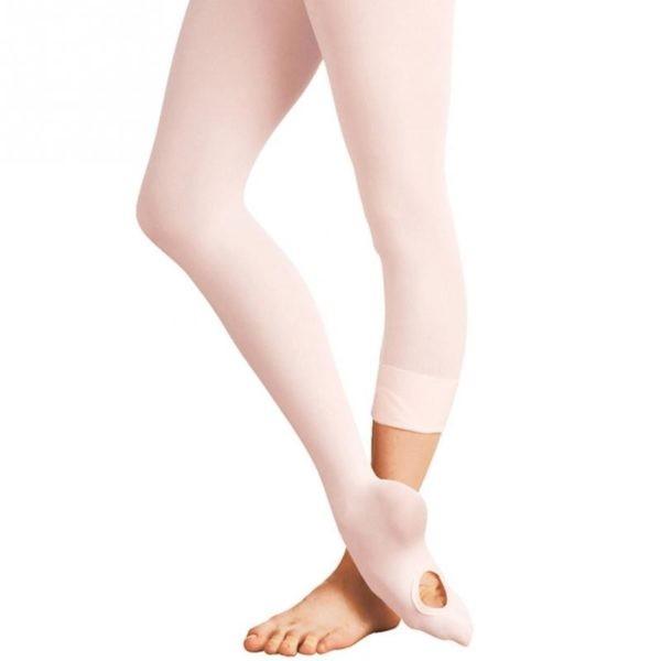 Girls Convertible Ballettstrumpfhose mit Fußloch