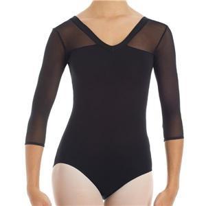Ballett Trikot 3/4 Mesh-Arm