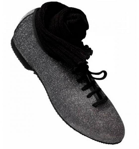 Graphite hologram jazz shoe